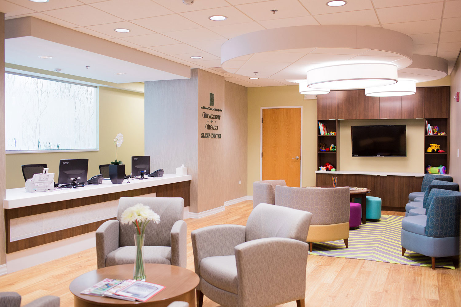 Chicago ENT renovation - reception