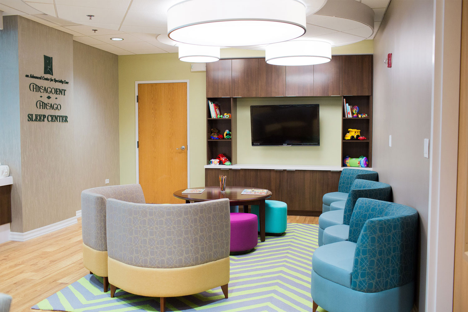 Chicago ENT renovation - waiting area